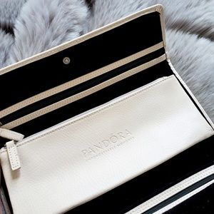 Pandora Genuine Leather Jewelery Travel Clutch